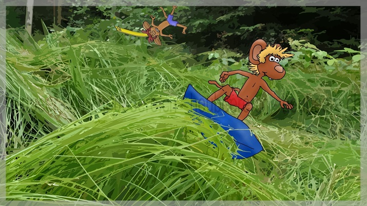 Grass Surfing - Gras-Surfer-Maus